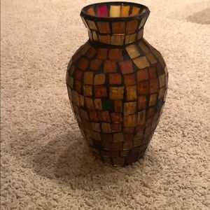 Vase from Pier 1 - brown and gold with some blue.